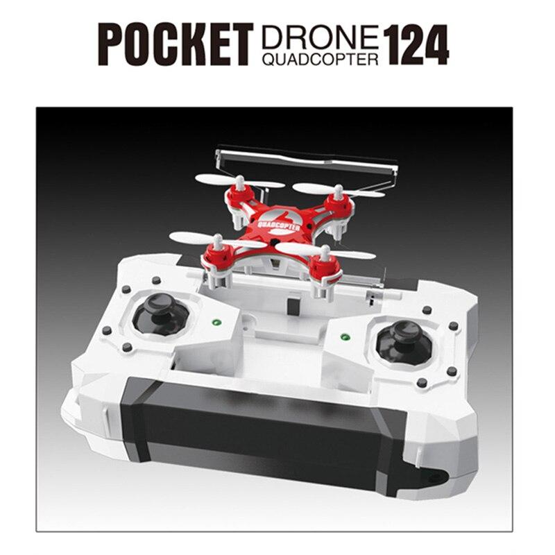 RC drone Dron 2.4g 4CH 6-Axis Gyro RTF Pocket modo sin cabeza quadcopter aviones juguete FQ777-124 drones helicópteros niños regalos de navidad