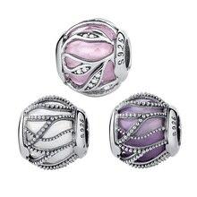 WOSTU Hot Sale 925 Sterling Silver Nature's Radiance Charm Beads Fit Original Pandora Bracelet Bangle Authentic DIY Jewelry