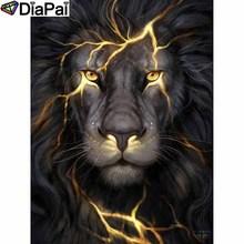 DIAPAI 5D DIY Diamond Painting 100% Full Square/Round Drill Animal lion Diamond Embroidery Cross Stitch 3D Decor A21476 diapai diamond painting 5d diy 100% full square round drill animal lion diamond embroidery cross stitch 3d decor a24702