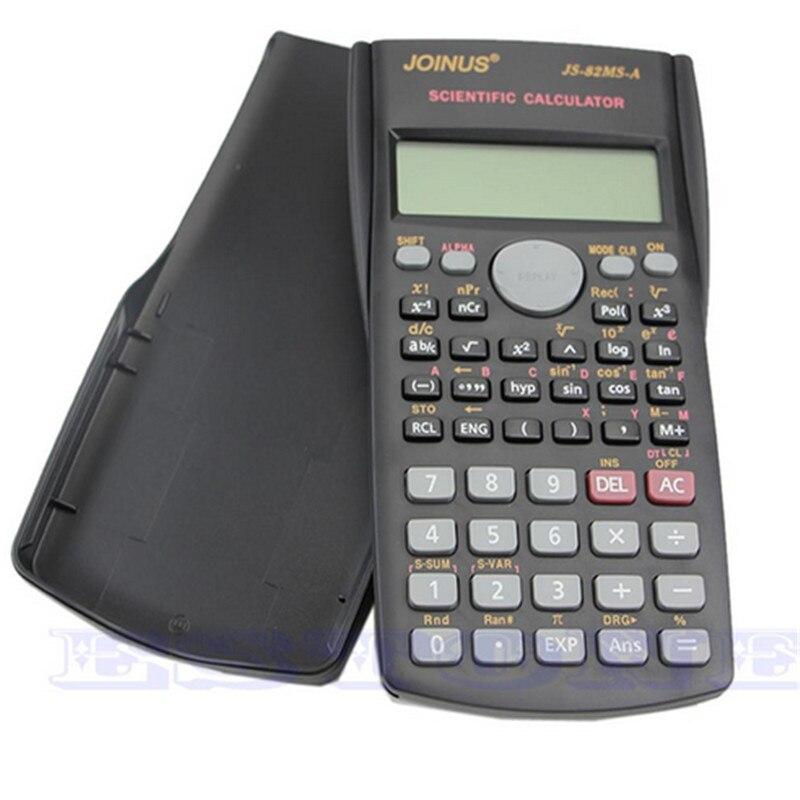 OOTDTY Функция калькулятор 82MS-A Ручной Multi-Функция 2-линии Дисплей цифровой ЖК-дисплей научный калькулятор оптовая продажа наивысшего качества