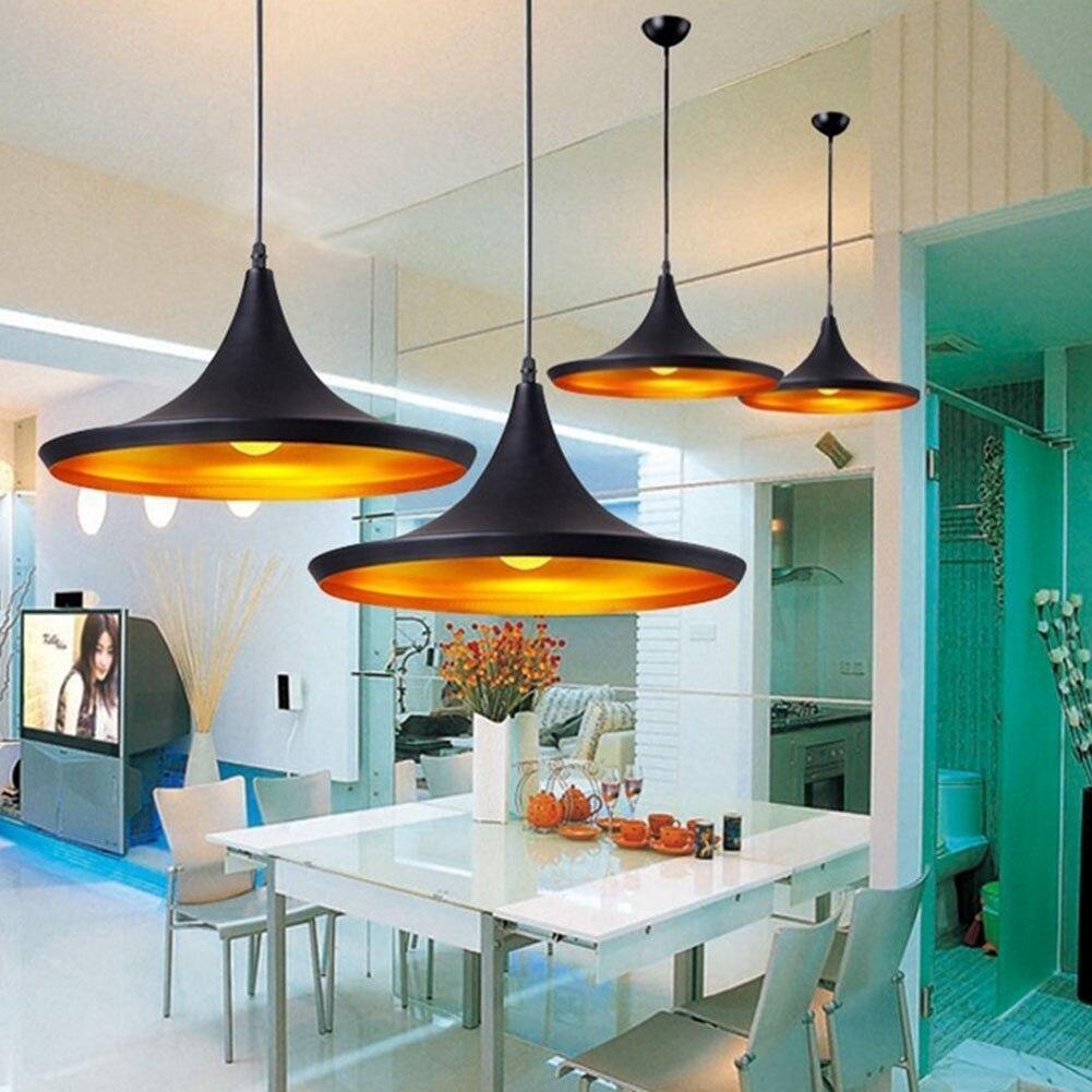 Us 19 74 30 Off Nordic Pendant Light Loft Lamp Hanging Luminaire Restaurant Kitchen Gold Inner Finish Home Lighting In