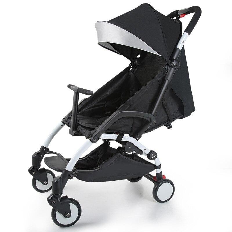Babyyoya коляска может сидеть лежащего можно на плоскости одну кнопку, чтобы собрать автомобиль легкий ребенка зонтик складной шок