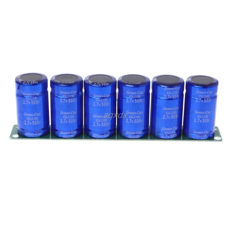 Farad Capacitor 2.7V 500F 6 Pcs/1 Set Super Capacitance With Protection Board Z10 Drop shipFarad Capacitor 2.7V 500F 6 Pcs/1 Set Super Capacitance With Protection Board Z10 Drop ship