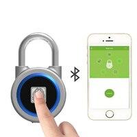Smart padlock electronic lock warehouse door security door lock dormitory cabinet bedroom Bluetooth fingerprint padlock