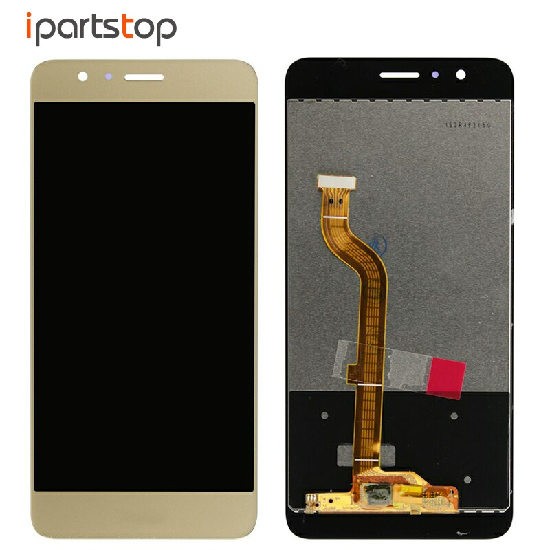 Black White Blue Gold Display For Huawei Honor 8 FRD-AL00 LCD Screen Touch Digitizer With Front Frame Housing Bezel Assembly for huawei honor 7 lcd display touch screen digitizer with frame lcd display assembly replacement pantalla black white gold tool