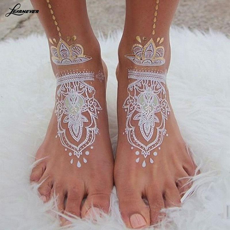 Temporary Tattoo Ink Like Henna: Natural Herbal Henna Cones Temporary Tattoo Kit White Body