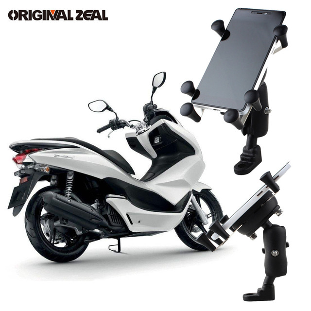Universal Rear View Mirror Motorcycle Phone Holder Stand Support