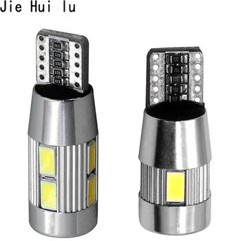 1Pcs Car Auto LED T10 194 W5W Canbus 10 6 SMD 5630 5730 LED Light Bulb No Error Led Parking Fog Light Auto Univeral Car Light image