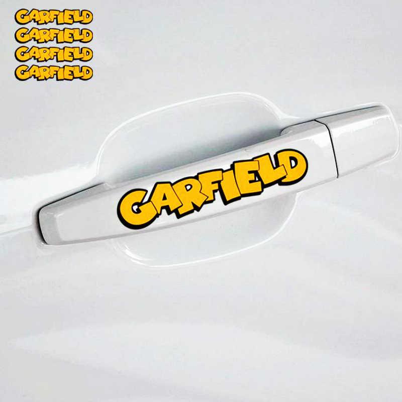 Aliauto 4 X cercanas Garfield manija de la puerta de coche etiqueta engomada etiqueta para Peugeot 307, 206, 407, 406, 405, 3008, 4008, 208 308, 306 de 107 Citroen inteligente