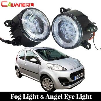 Cawanerl For Peugeot 107 Hatchback 2005 Onwards Car Styling LED Lamp Fog Light Angel Eye Daytime Running Light DRL 12V 2 Pieces