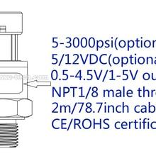 2 м/78,7 дюйма кабель, многодиапазонный дополнительный импортный керамический датчик давления