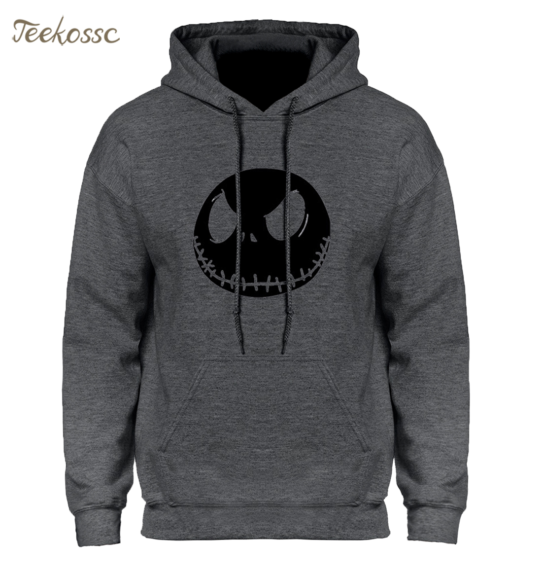 The Nightmare Before Christmas Halloween Pumpkin King Skull Hoodie Streetwear Hip Hop Hooded Hoody Mens Hoodies Sweatshirts Male