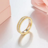 ZOZIRI brand new Famous design 925 sterling silver gold rings for beauty women shiny cubic zirconia rings birthday party jewelry