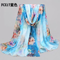 5pcs/lot lady big long chiffon beach scarf wholesale cheap scarf shawls brand  women floral extra large scarf shawls175*145cm