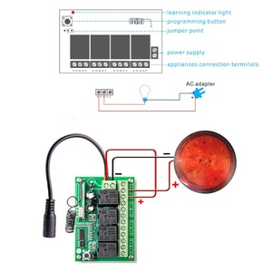 Image 2 - ALARMEST akıllı ev 4CH için röle çıkışı kontrol küçük ev aletleri için G90B wifi alarm ev güvenlik sistemleri