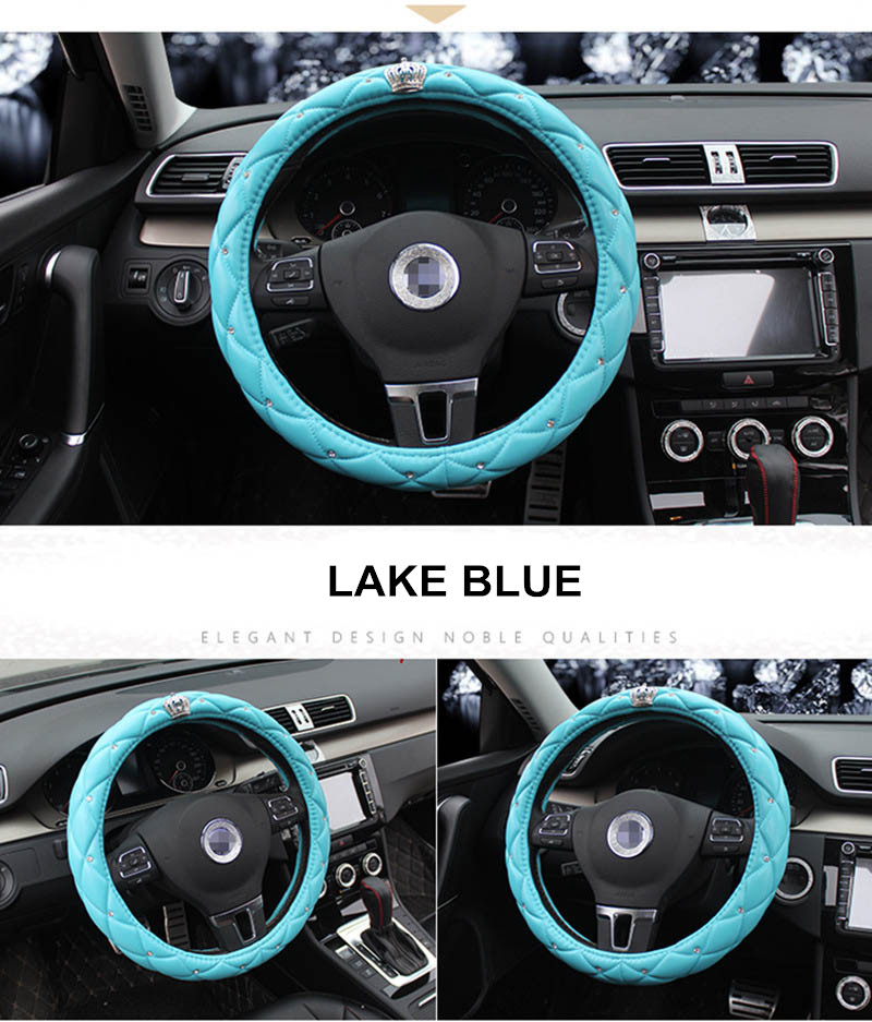 leather steering wheel cover 7