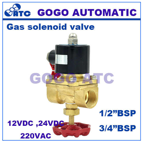 2 Way Air Air Gas Tembaga Solenoid Valve dengan Manual Emergency Switch G1/2 3/4 Inch Biasanya Tutup full Kuningan Coil Valve Kawat