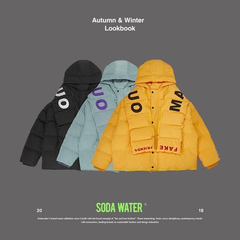 SODAWATER 2018 зимняя куртка мужская Толстая теплая Высокое качество водостойкая брендовая одежда для мужчин зимнее пальто Мужская Уличная 81115WS
