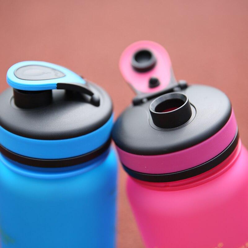 UZSPACE Botol Air 650 ml 1000 ml Kapasitas Minum Air Portabel Plastik - Dapur, ruang makan, dan bar - Foto 6