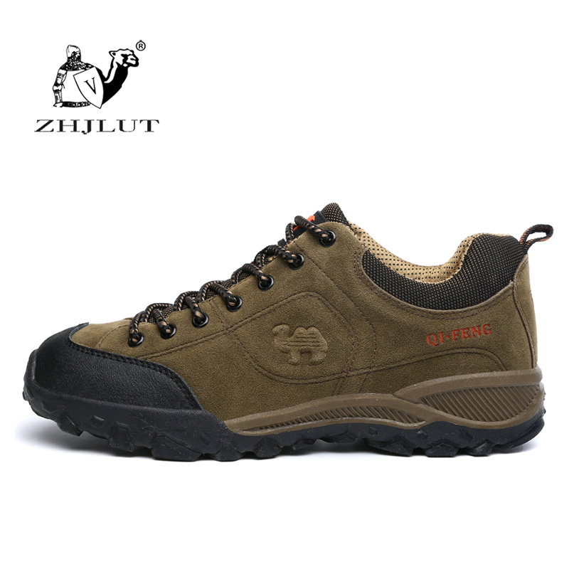 ZHJLUT Brand Suede Outdoor Sport Walking Climbing Non Slip Breathable Shoes Lovers Hiking Shoes Men & Women Trekking Shoes peak sport men outdoor bas basketball shoes medium cut breathable comfortable revolve tech sneakers athletic training boots