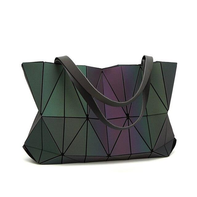 Hot Sale Japan Bag Folding Chains Handbag Luxury Lucent Prism Rock Tote Bag Casual Shopper Tote luminous Women holographic Bao