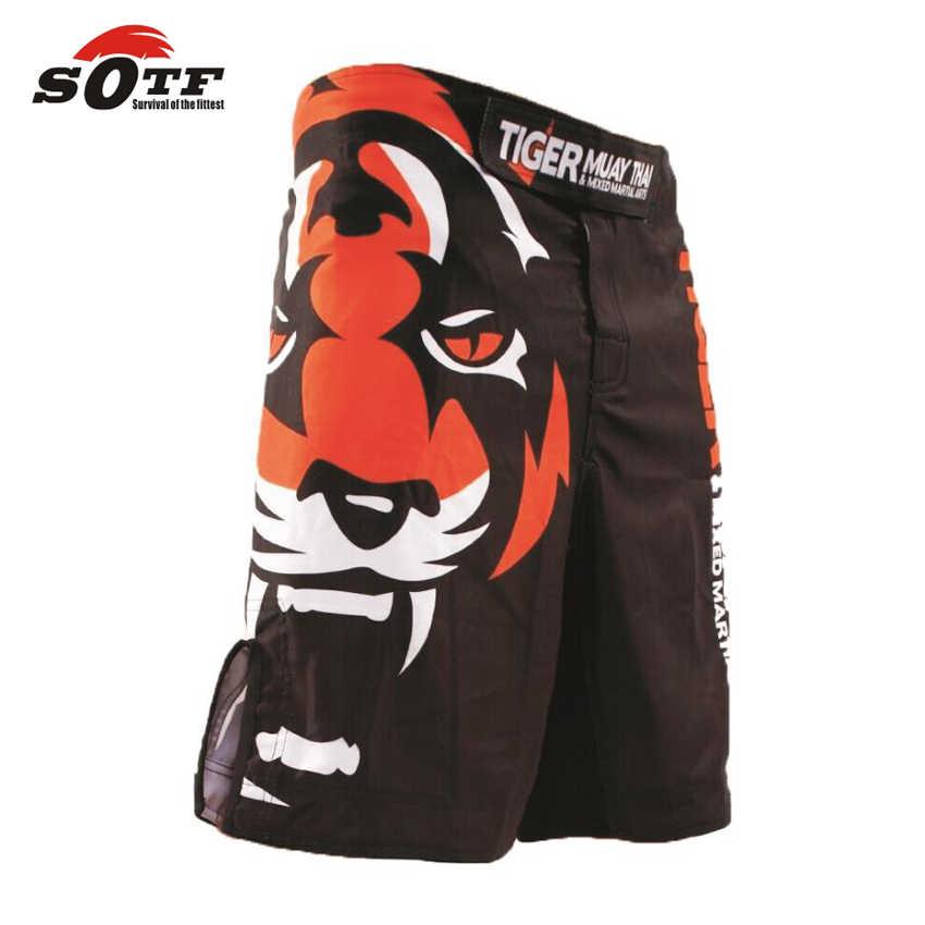 Sotf tigre muay thai mma shorts boxe luta sanda ropa boxeo bermudas pantalones cortes mma kick boxe wrestling