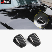 JHO 2x ABS Chrome Windshield Washer Nozzle Caps Cover Trim For Jeep Grand Cherokee 2011-2018 2016 2017 2015 Car Accessories цены онлайн