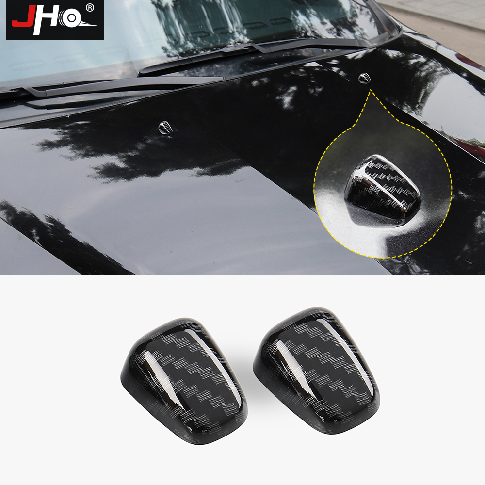 JHO 2x ABS Chrome Windshield Washer Nozzle Caps Cover Trim For Jeep Grand Cherokee 2011-2018 2016 2017 2015 Car Accessories image