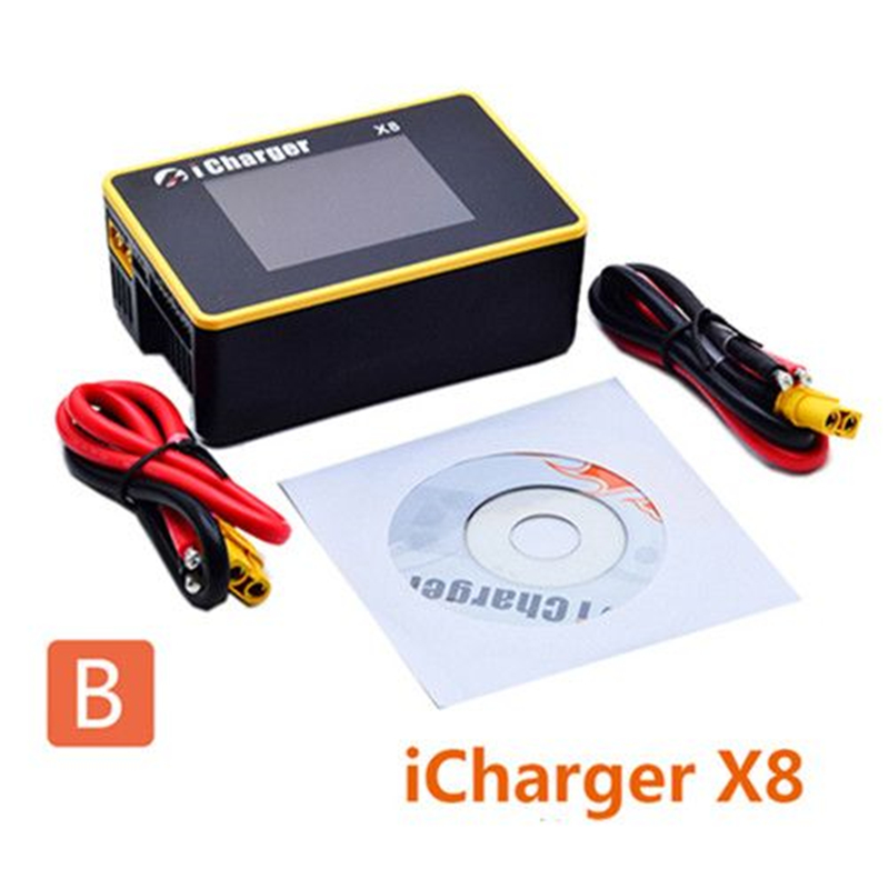 iCharger X8 1100W 30A DC LCD Screen Smart Battery Balance Charger Discharger for 1-8s LiPo/Lilo/LiFe/LiHV Battery RC Drone Model