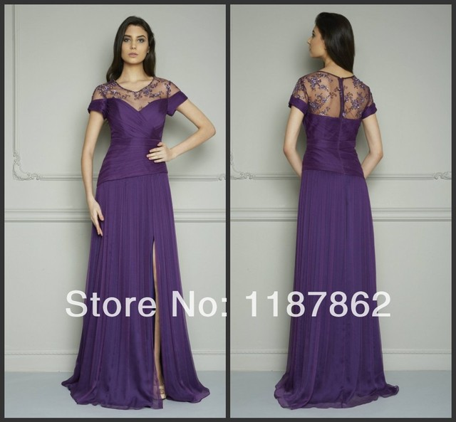 ED-0159 Special Occasion Dresses Evening Dress for Fat Women Summer Dress  Fashion 2014 Purple Dress 8d90aa9521a0