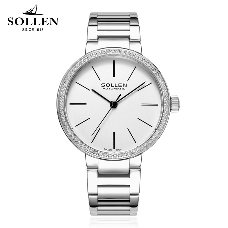reloj mujer Top Quality Women Watches Luxury full Steel Rhinestone Watch Crystal clock Female waterproof mechanical Wristwatch ночники bradex ночник
