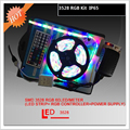 Freeshipping  5 sets of 5M SMD3528 300LEDs/Roll+24/44 keys IR Remote+12V 2A Adapter RGB IP65 led strip flexible tape