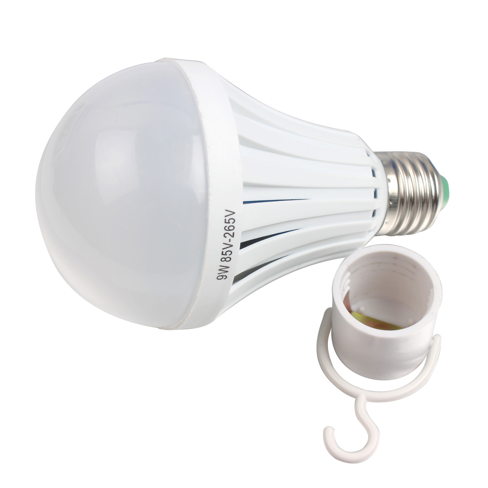 LED Bulb Outdoor Lighting White Intelligent Magical Lamps Emergency Light 85-265V Rechargeable For Camping hunting E27 9W