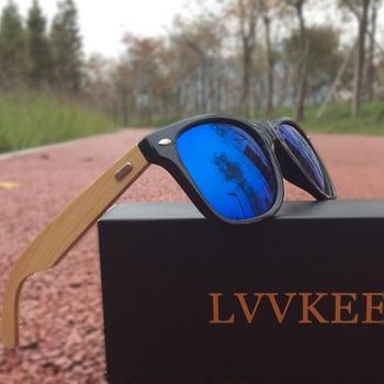 LVVKEE Top quality Brand Design Classic Rivet wood Mens/Womens sunglasses handmade bamboo Outdoors traveling sun glasses UV400 5