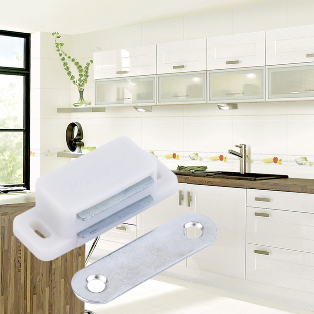 20 x Heavy Duty Magnetic Cupboard Door Catch Strong Door Cabinet Latch Worldwide store