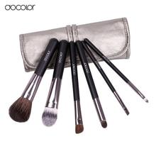 Docolor makeup brushes 6pcs Goat Hair Professional makeup brush set Eye Shadows Eyeliner Nose Smudge make up brushes free ship