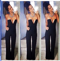 Sexy Women Jumpers and Rompers Elegant Womens Jumpsuit Casual Solid Bodysuit Sleeveless Crew Neck Long Playsuits Plus Size
