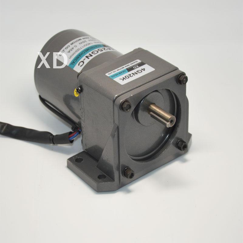 AC220V 25 Вт 10-500 об./мин. 4m25gn-c однофазный редукторный двигатель с микро губернатора машины/Механические инструменты/ DIY Интимные аксессуары двиг...