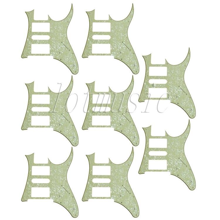 8 pièces vert clair perle HSH Électrique Pickguard Guitare Ibanez RG250 Style remplacement