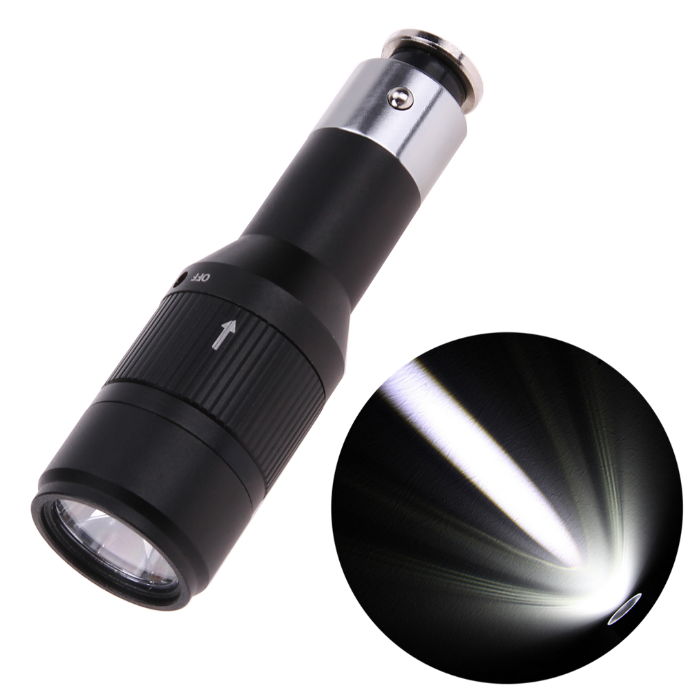 Rechargeable CREE Q5 LED Flashlight Car Vehicle Charging Mini Pocket Torch Light 1 Mode with Built-in Car Charger cree q5 led pocket flashlight 120lm ipx 6 waterproof torch