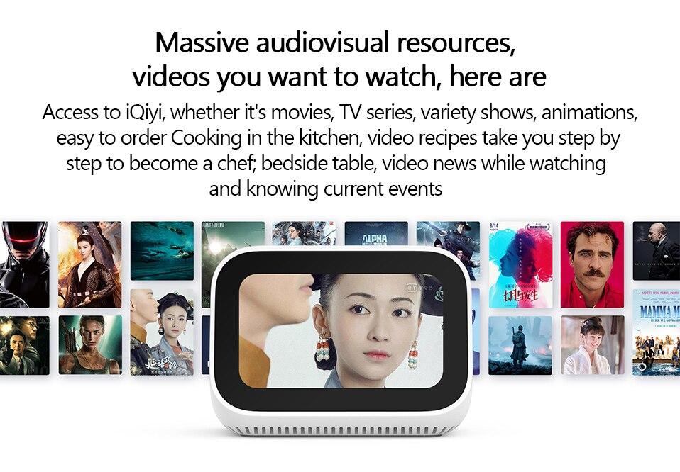 Original Xiaomi AI Touch Screen Bluetooth 5.0 Speaker Digital Display Alarm Clock WiFi Smart Connection Speaker Mi speaker (10)