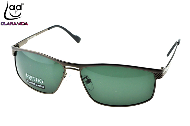 =CLARAVIDA=2017 HANDSOME FULL RIM GREY TAC Enhanced Polarization polarized square green lenses driving fishing sunglasses