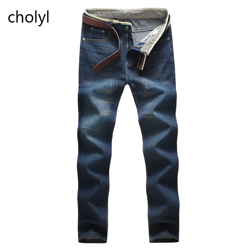 2016 high quality Retro Teenage Men Jeans Slim Straight Pants Spring and summer Casual Loose Pants CHOLYL Brand biker jeans