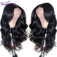 Remy Brazilian Body Wave Wig 130% Density Lace Front Human Hair Wigs With Baby Hair Pre Plucked Hairline Dream Beauty