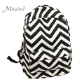 Korean Style Designer Striped Zipper Canvas Backpack Teen Girls School Bags Large Travel Laptop Female Backpacks Mochilas Women