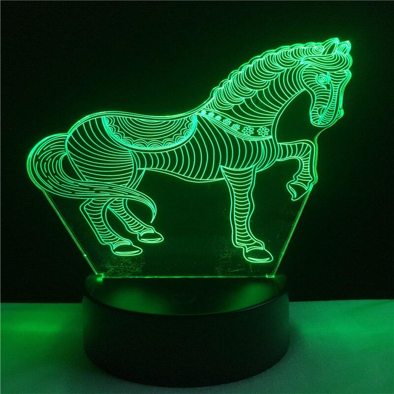 Luzes da Noite zebra quarto home decor gadget Color : Blue/orange/green/red/purple