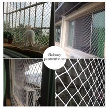 Guard Rail Netting Per Metre Protective net 50mm Diamond Mesh White Boat Handrail door mesh screen can protective and keep safe(China)