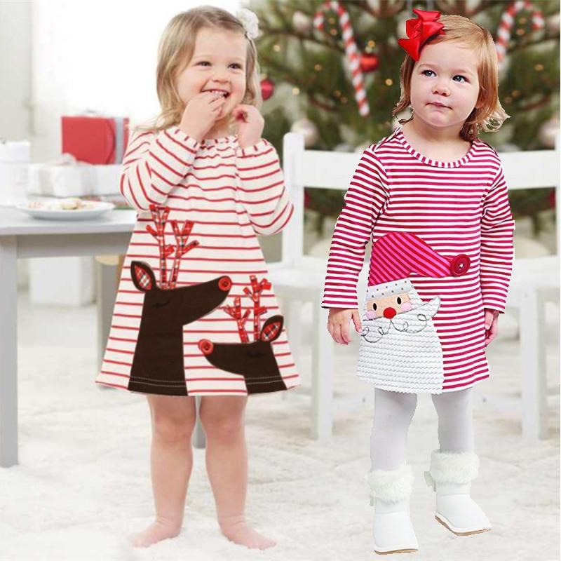 91e3d22f1 2019 vestido de princesa de moda para niñas vestidos de Navidad de invierno  cálido de manga larga ...