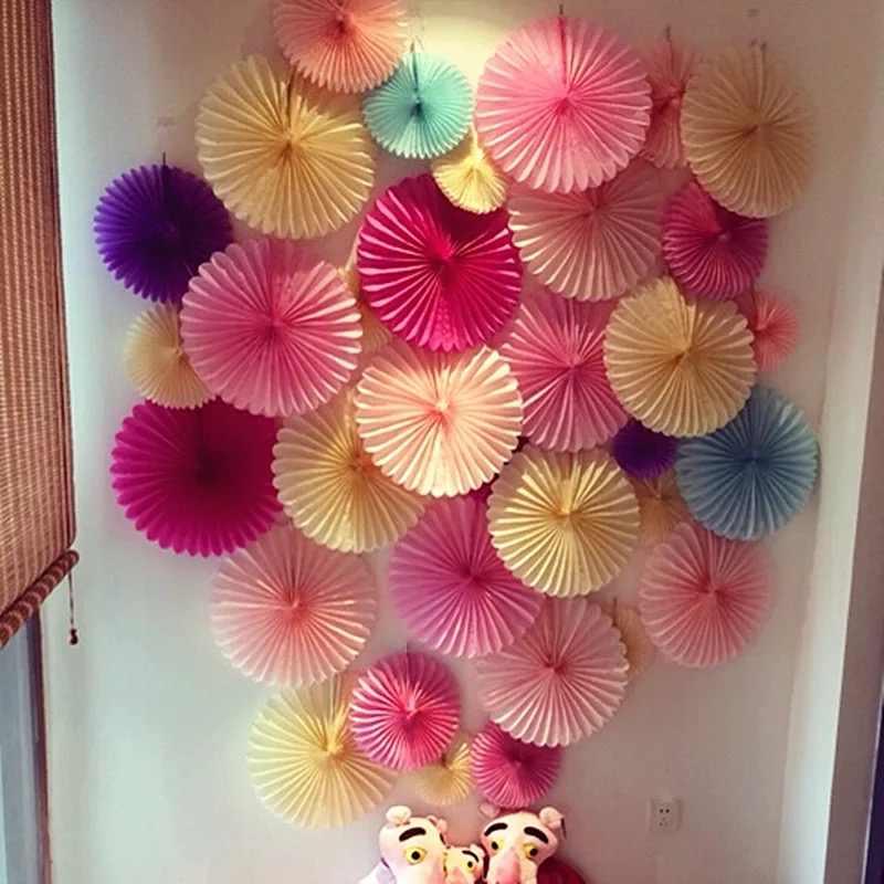 """10 Cm 4 """"Jaringan Kertas Pinwheels Gantung Bunga Kertas DIY Kerajinan untuk Pernikahan, Baby Shower, Pesta Ulang Tahun Festival dekorasi"""