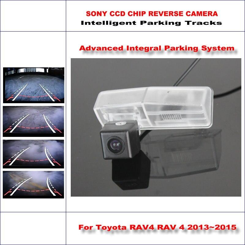 Intelligentized Caméra de Recul Pour Toyota RAV4 RAV 4 2013 ~ 2015 Vue Arrière Back Up/580 Lignes TV Dynamique d'orientation Pistes